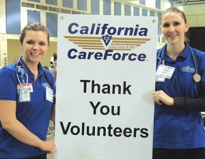 Volunteer students from the SBB School of Nursing show their appreciation