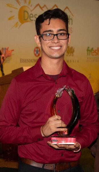 Youth winner Andres Castaneda