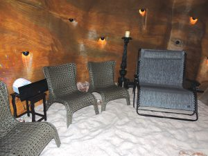 Exquisite health facilities for humans include a Himalyan salt cave.