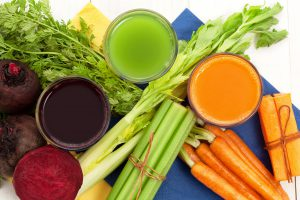 Organic vegetable juices can assist with a post-holiday cleanse.