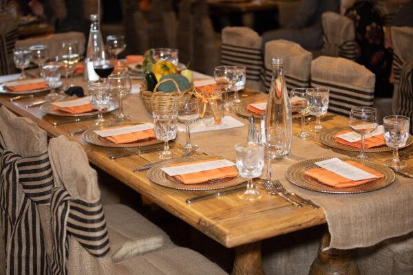 Farm table décor