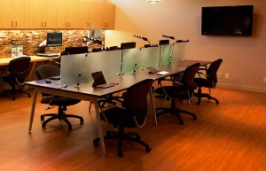 The technology center at the Braille Institute