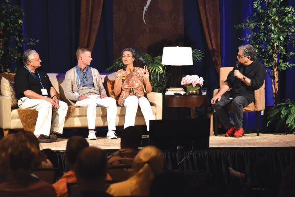 Panel of people