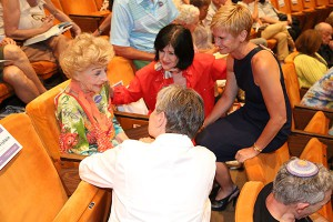 Wahls was honored to meet 102-year-old  Edith Morrey
