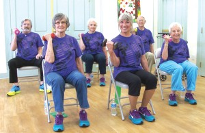 Geri-Fit participants include 100 year old Mary Araki (top, right).