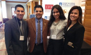 MHA students worked alongside Clinton Foundation president Donna Shalala and met Senator Raul Ruiz.