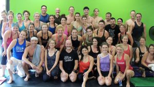 108 sun salutations at Power Yoga Palm Springs welcomed the summer solstice and benefited fellow yogi Shay.