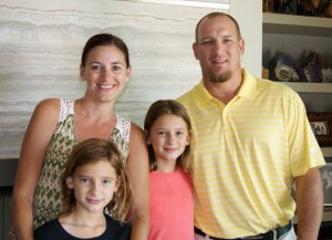 Trent Hauswirth of Palm Desert with his  wife, Alexis, and daughters Camille and Shea.