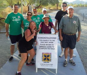 City of La Quinta Healthy Lifestyle Challenge members work out together for the group's benefit and their own