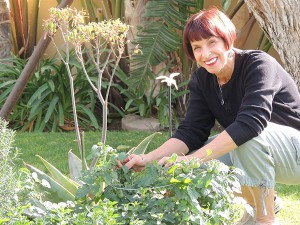 Audrey Reed of La Quinta enjoys the serenity – and bounty – from her backyard garden