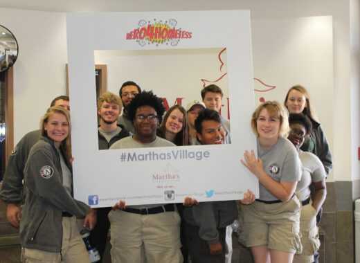 Volunteers at Martha's Village